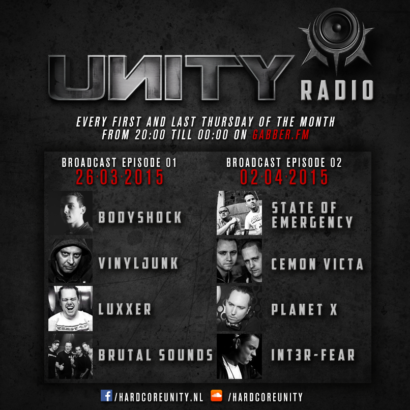 Every first and last Thursday of the month: UNITY RADIO!