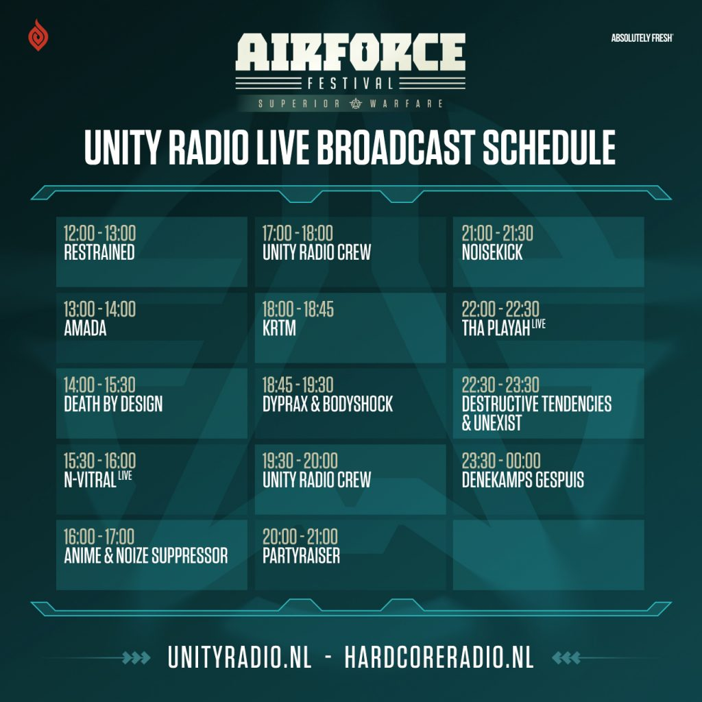 UNITY Radio broadcasting LIVE from AIRFROCE Festival