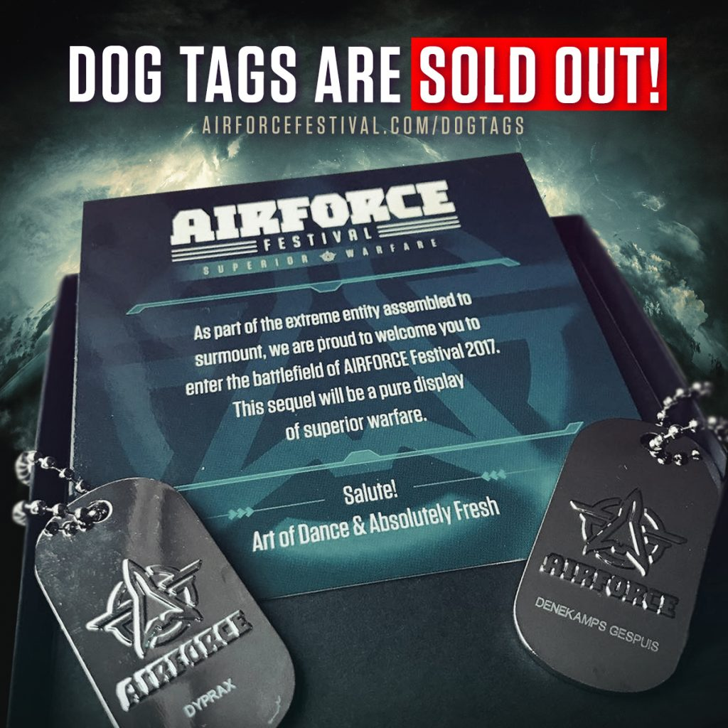 AIRFORCE Festival Dog Tags