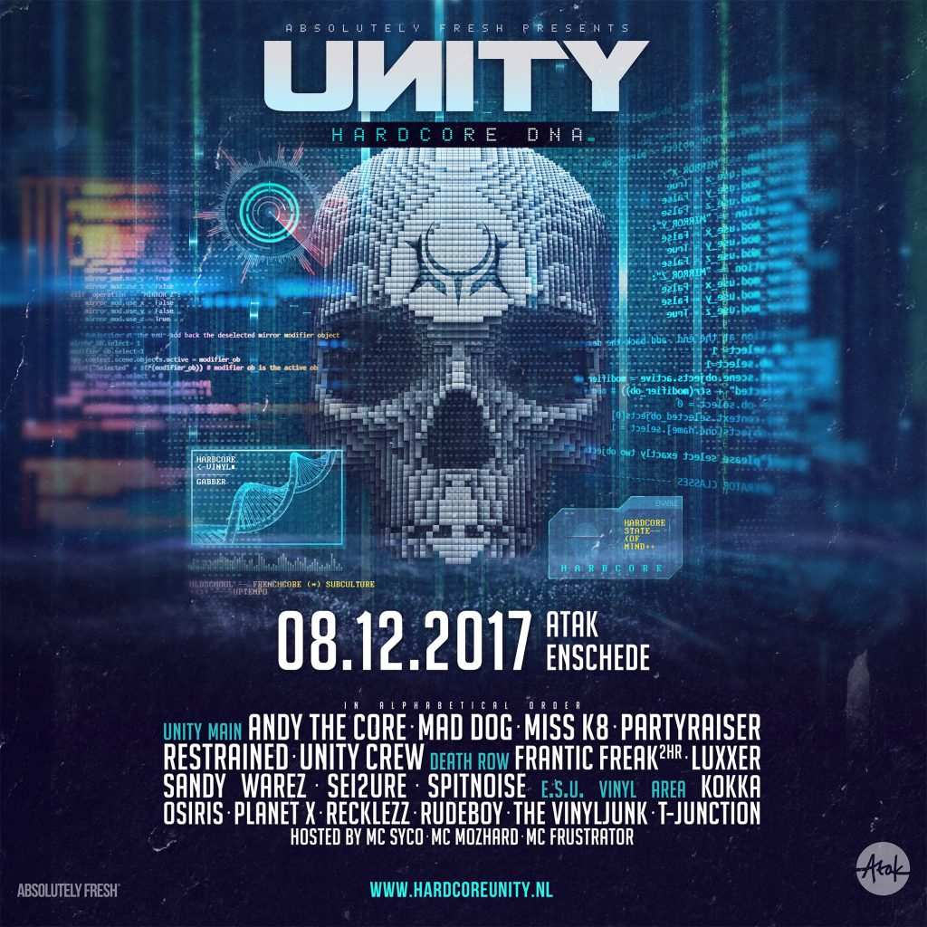 Line up release UNITY – Hardcore DNA