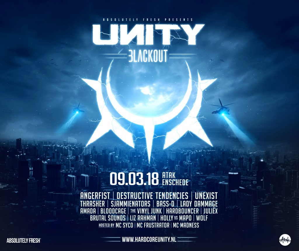 Line up release UNITY – Blackout