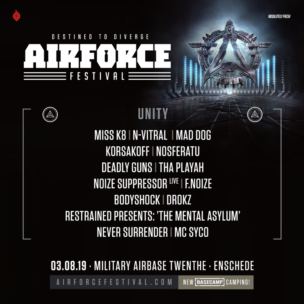 UNITY hosting op AIRFORCE Festival