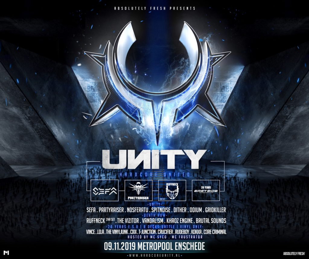 Line up release UNITY – Hardcore United